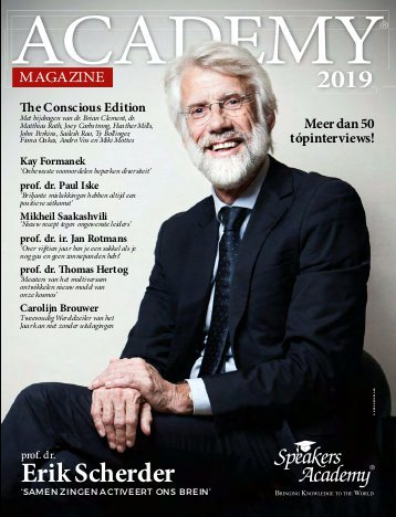 Speakers Academy - ACADEMY Magazine 2019